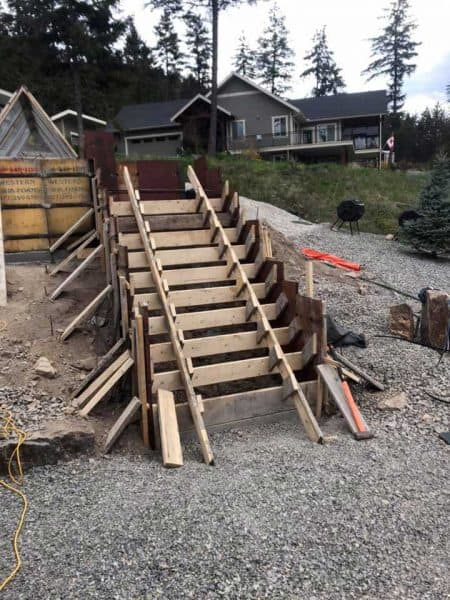 Residential Concrete Stairs Project | Arcana Building Company